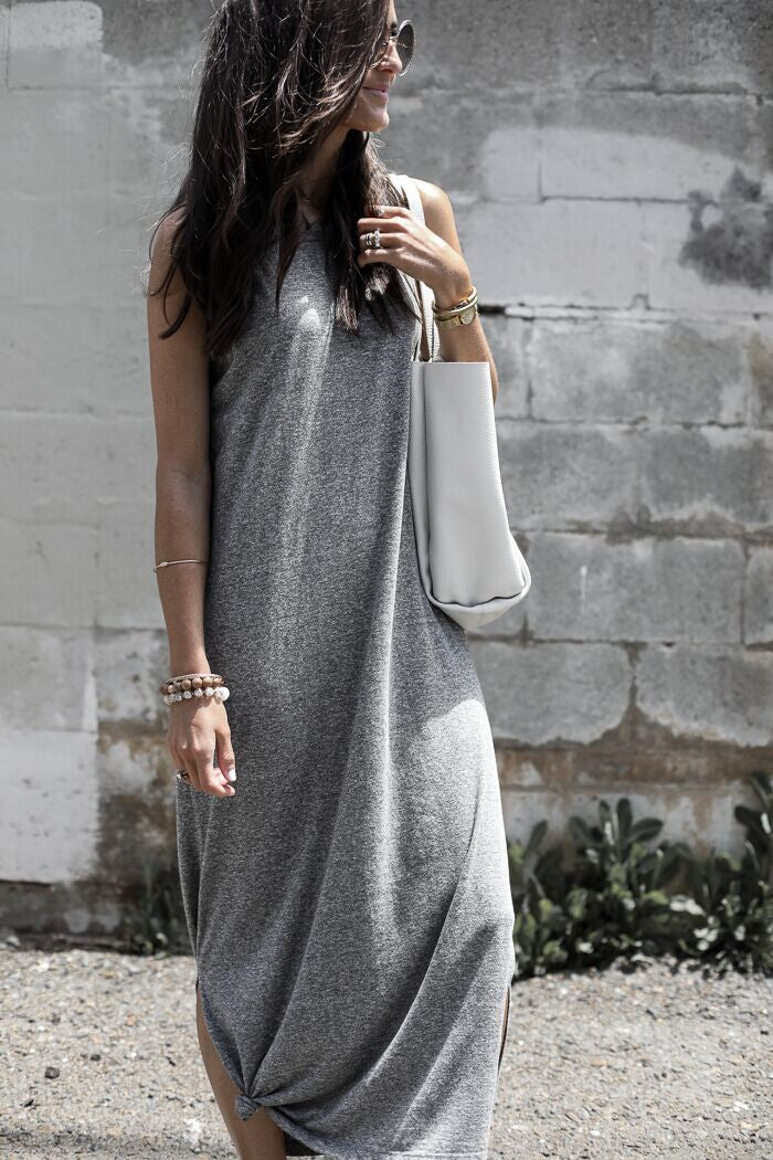 V Neck Striped Casual Summer Dress