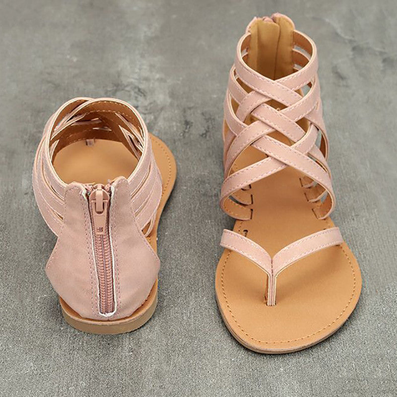 Casual Zipper Summer Sandals