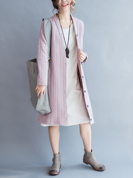 Thickened Long Sleeve Women Baggy casual Cardigan