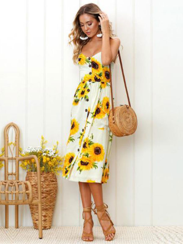 Spring and summer new printing cross-border hot long dress