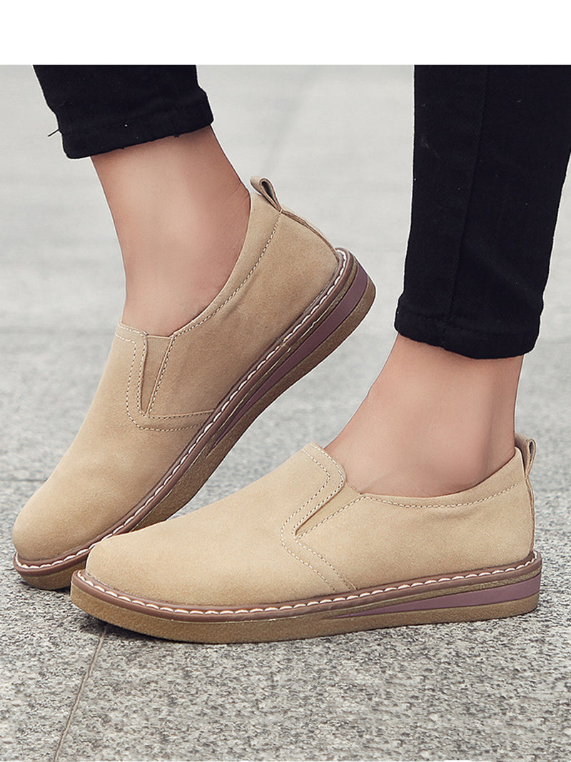 Women Classic Flat Shoes Comfortable Round Toe Leisure Shoes