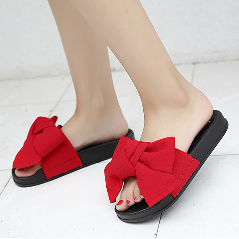 a442c444a3a9 Women Bow Knot Waterproof Slippers Casual Comfort Shoes – NORACORA