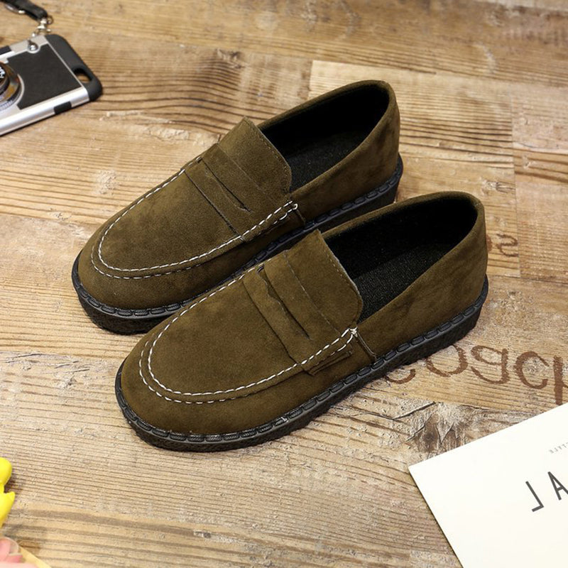 All Season Casual Flat Heel Panel Elegant Solid Loafer