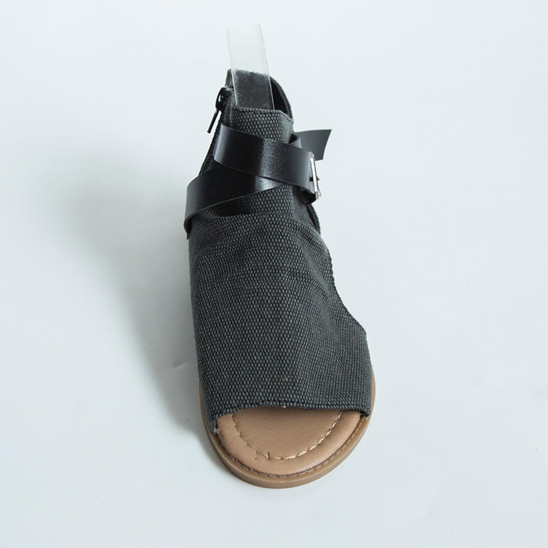 Denim Adjustable Buckle Sandals