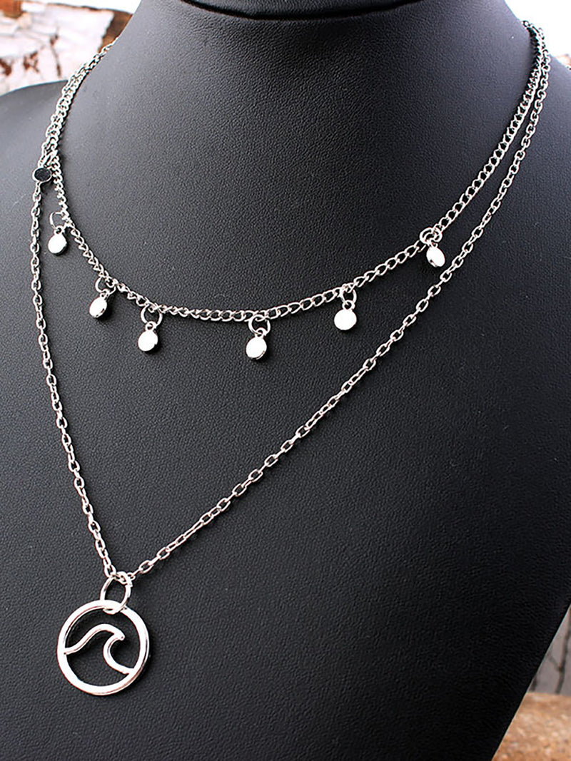Womens Supernatural Double Layers Alloy Necklaces