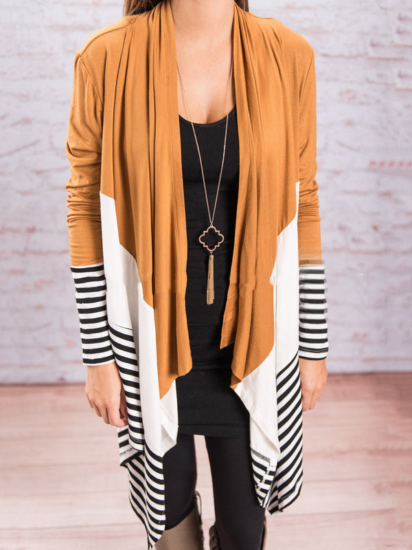 Striped Casual Printed/Dyed Paneled Blazer