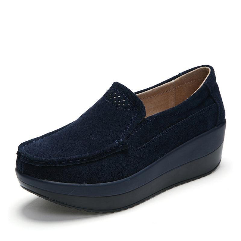 Round Toe Casual Platform Loafers