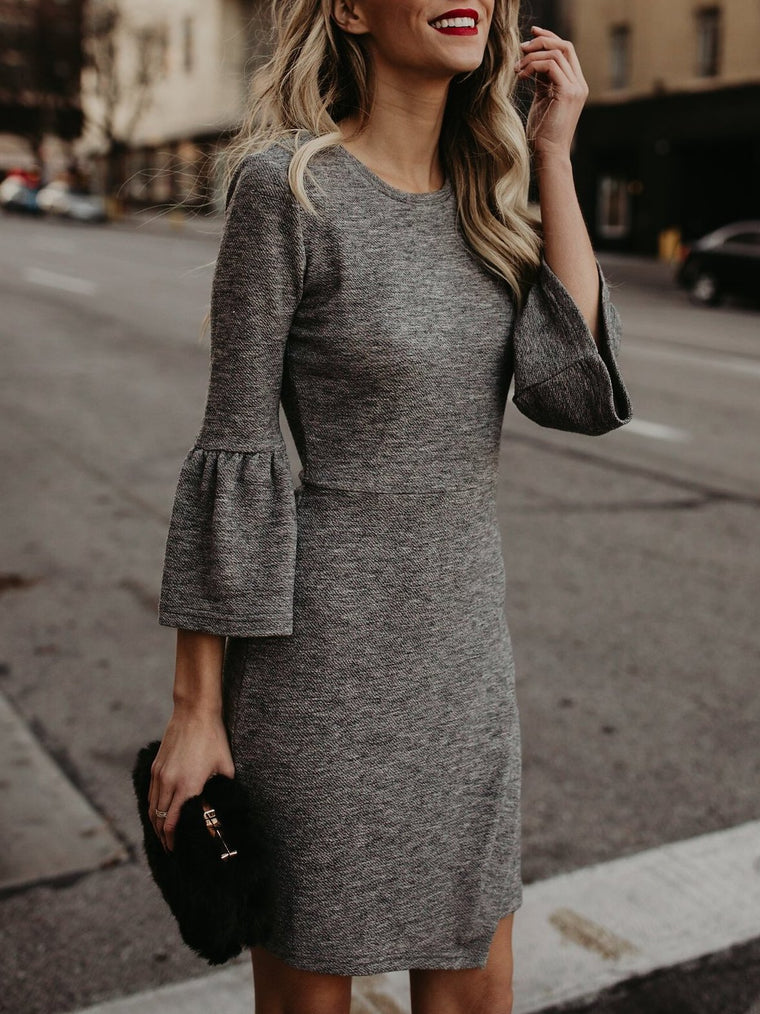 Bodycon Elegant Plain Dress