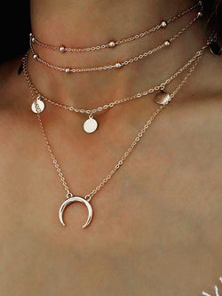 Gold Alloy Clavicle Necklace Jewelry