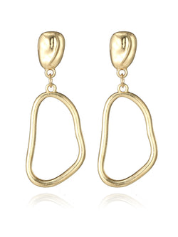 Gold Alloy Earrings