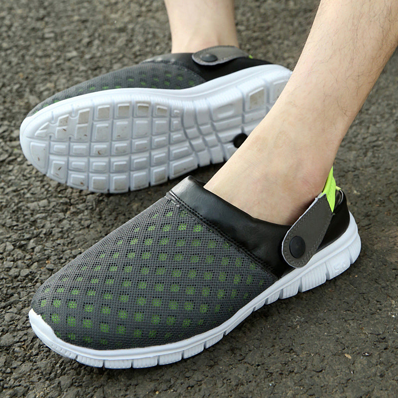 Convertible Unisex Breathable Mesh Fabric Slip On Slippers
