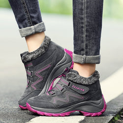 Women Warm Plush Wedge Sneakers Booties Female Waterproof Ankle Boots