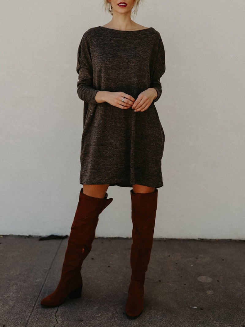 Casual Knitted Mini Dress