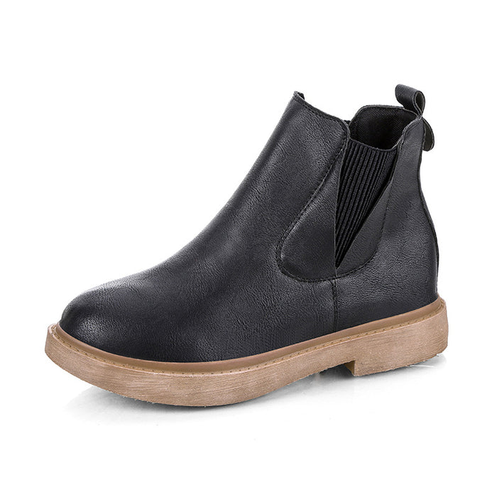Women Microfiber Leather Elastic Band Spring/Fall Boots