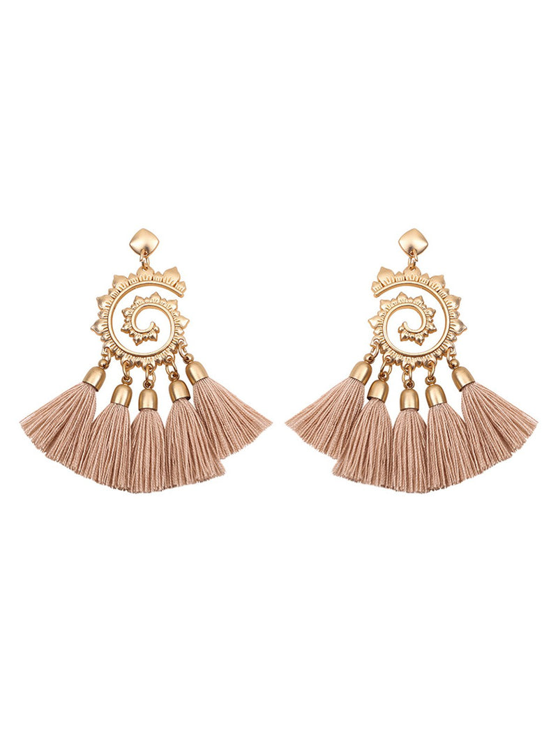 Womens Alloy Tassel Earrings