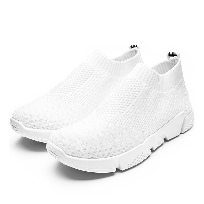 White All Season Elastic Cloth Sneaker