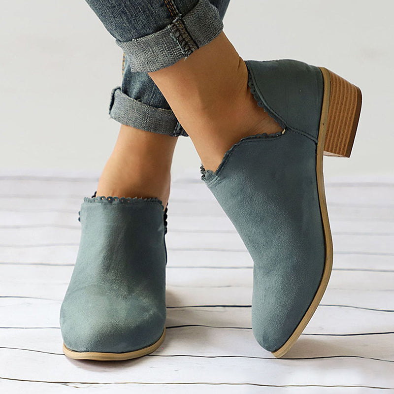 Women Booties Casual Slip On Comfort Plus Size Shoes