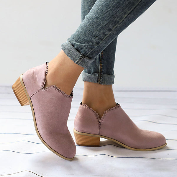 39c635b879ab6 Women Booties Casual Slip On Comfort Plus Size Shoes ...
