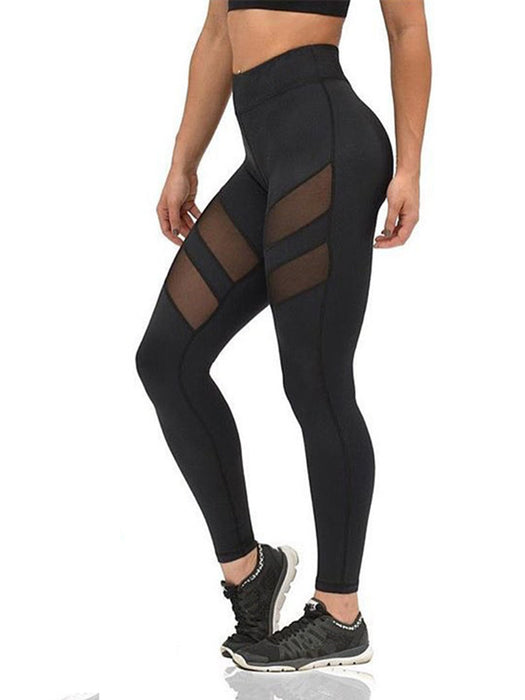 Women Mesh Paneled Sports Leggings