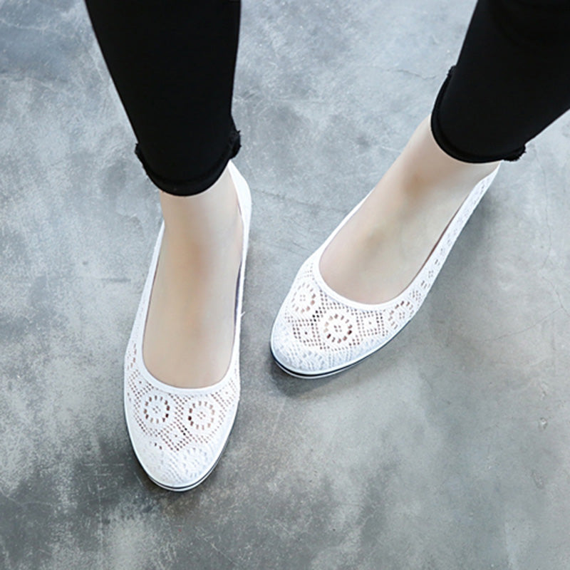 Women Flats Low Wedge Casual Comfort Slip On Shoes