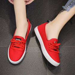 Women Fabric Sneakers Casual Comfort Lace Up Shoes