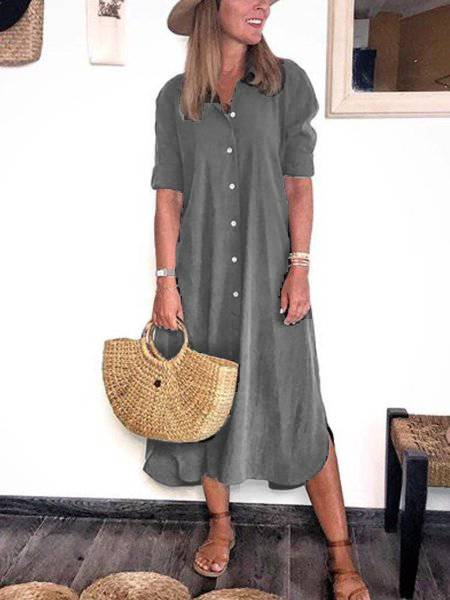 Cotton Short Sleeve Dresses