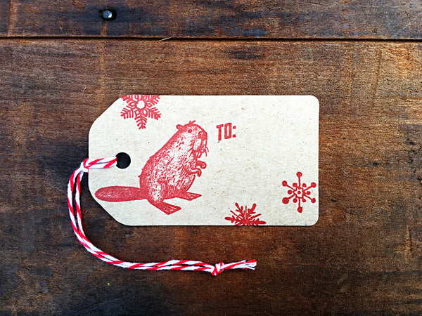 Letterpress Gift Tags