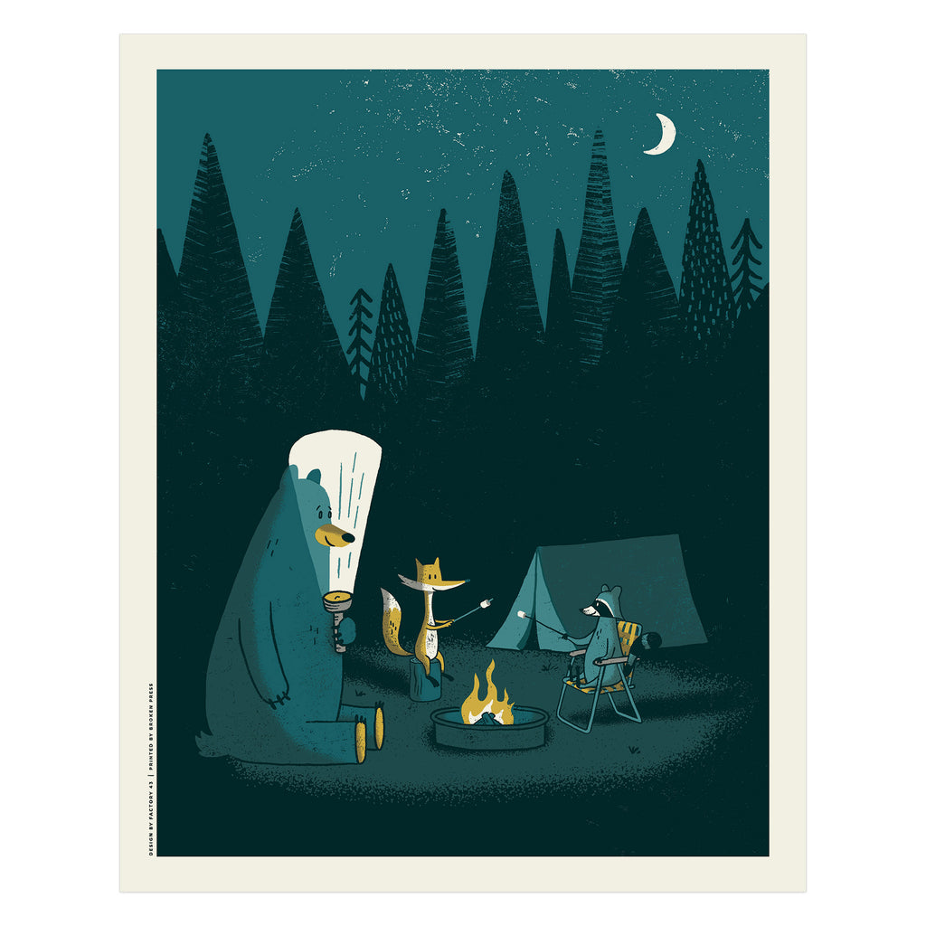Camping Out Poster