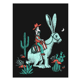 Rabbit cowboy art print