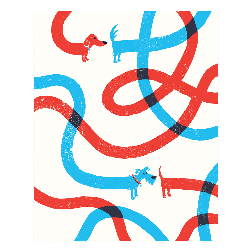 Dog Dance Art Print