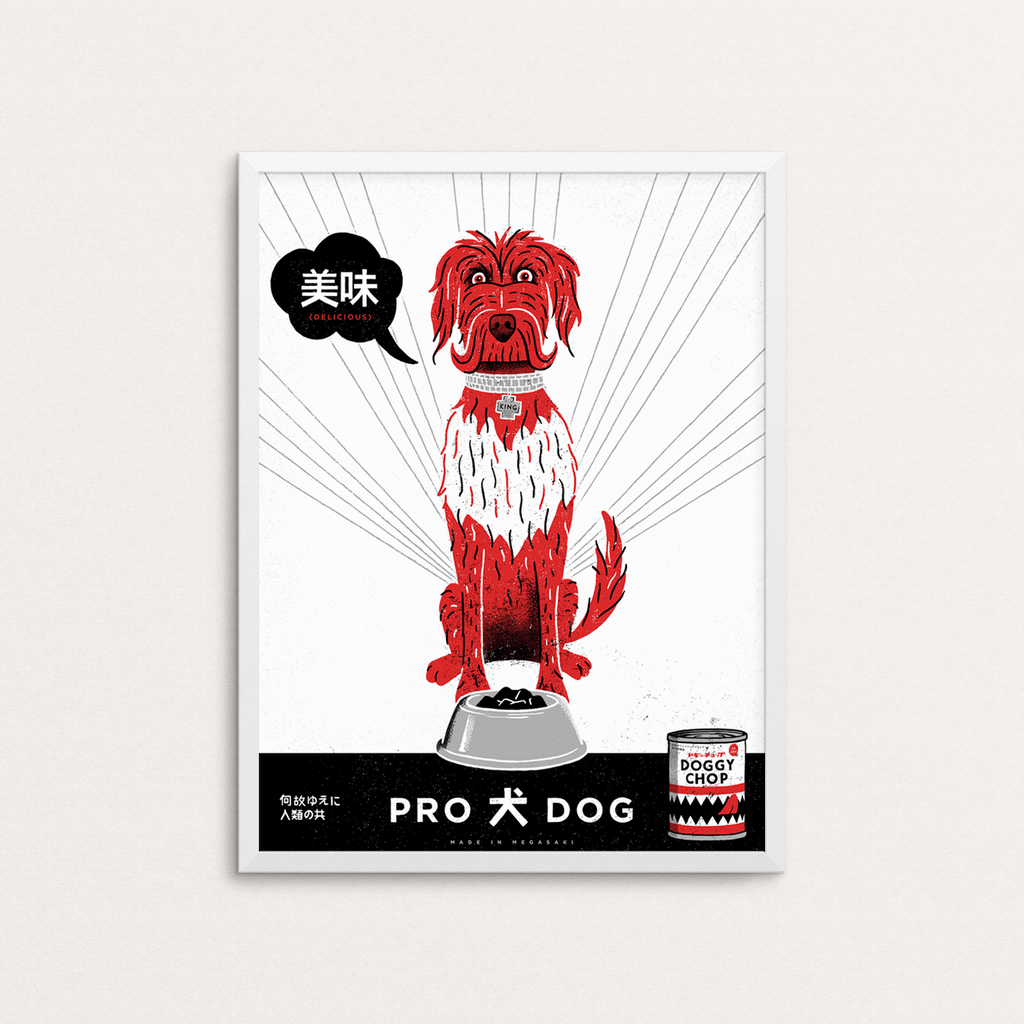 Doggy Chop Art Print