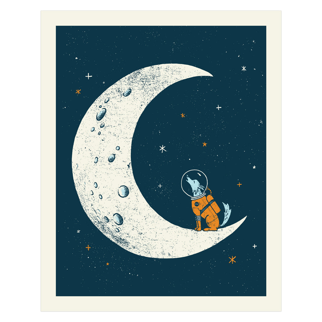 HOWL AT THE MOON ART PRINT