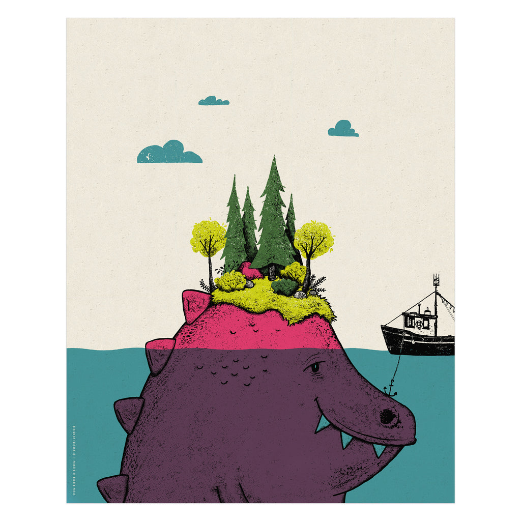 Island Monster Art Print