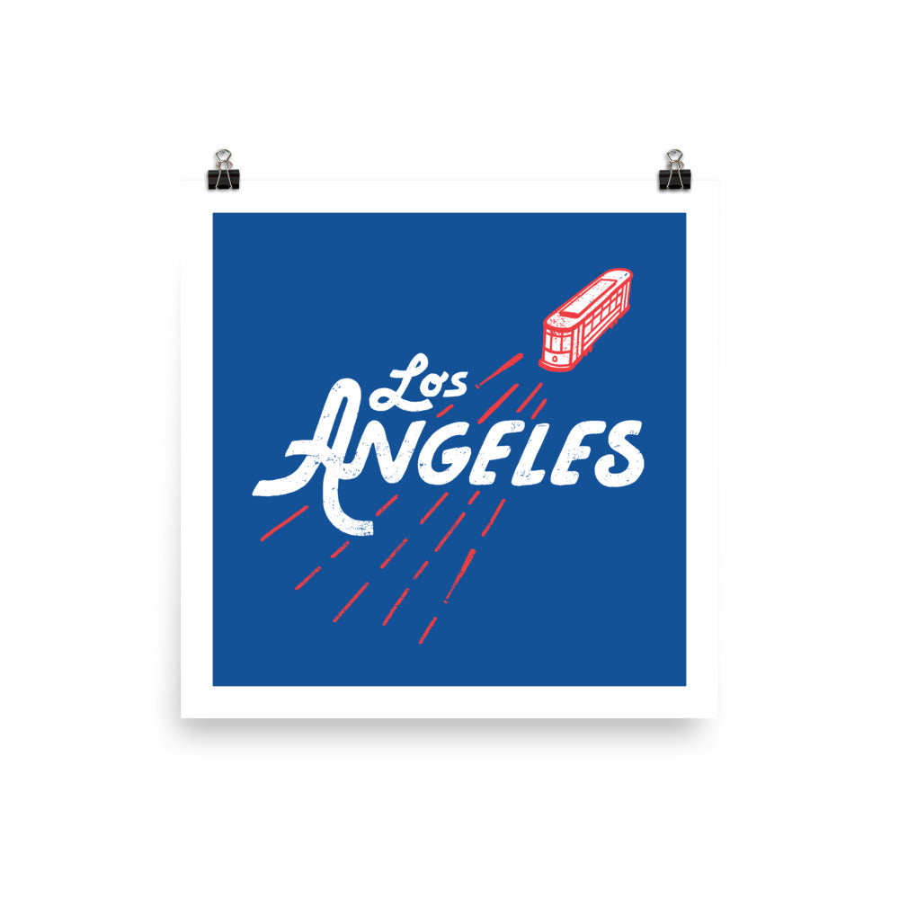 Los Angeles Baseball Poster
