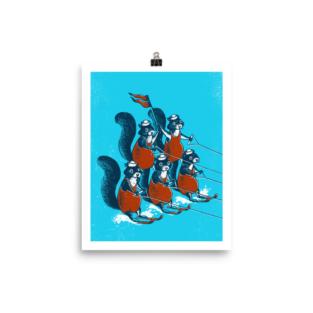 WATER SKIING SQUIRRELS PRINT
