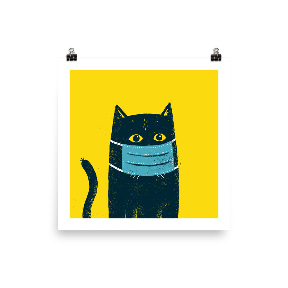 Cat mask poster
