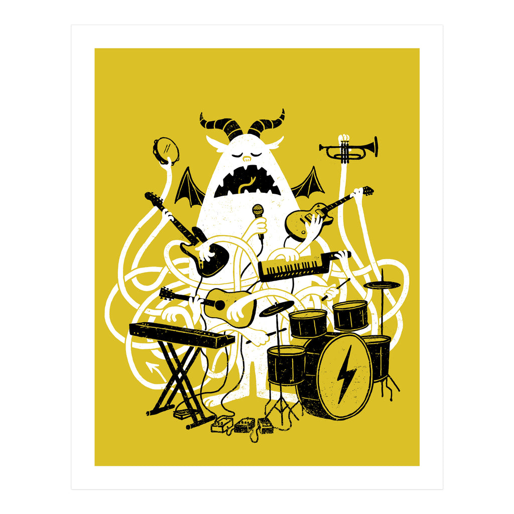 ONE MONSTER BAND ART PRINT
