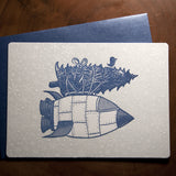Rocketship Holiday Card