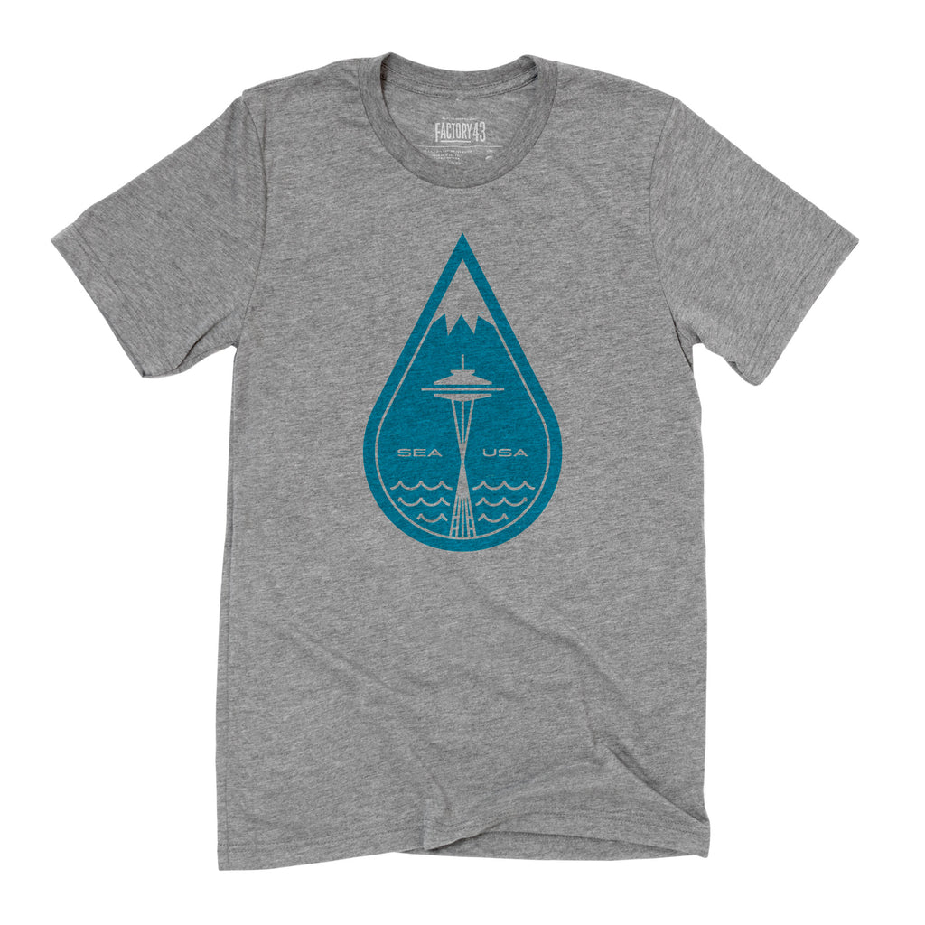 Seattle Raindrop tee