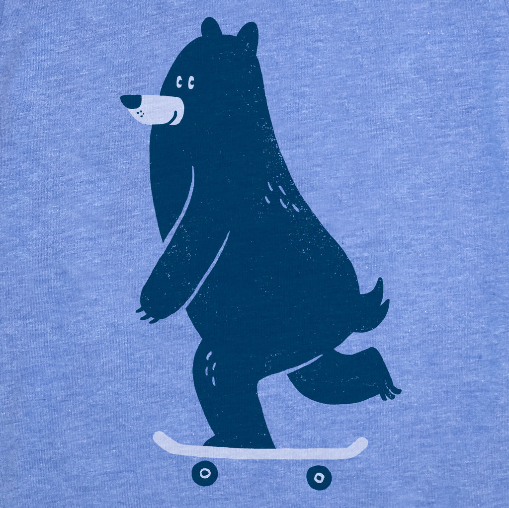Skateboarding Bear (Kids Tee)
