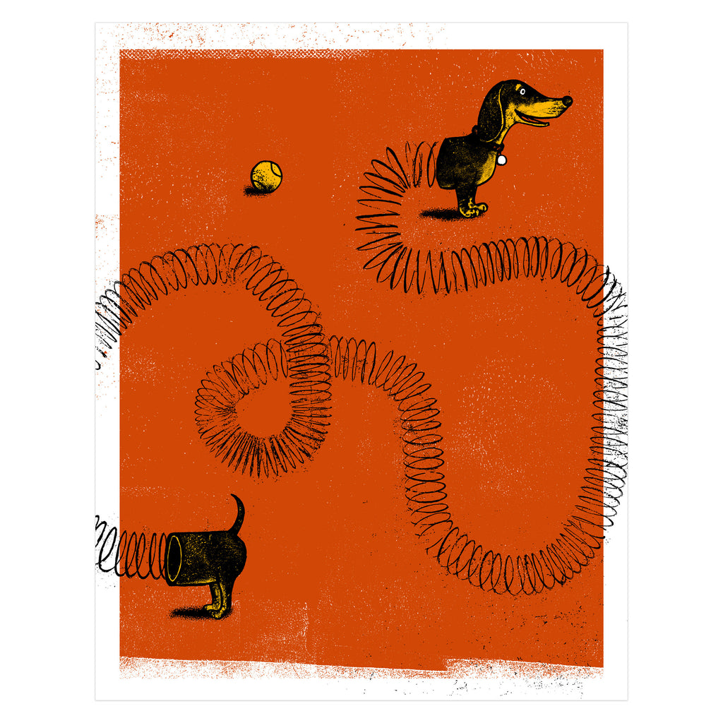 Slinky Dog Art Print