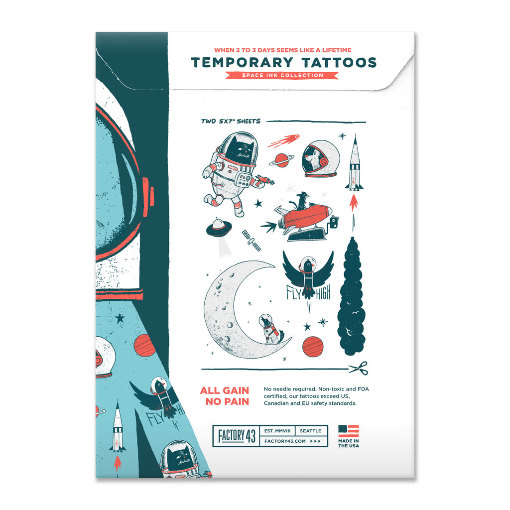 SPACE INK: TEMPORARY TATTOOS