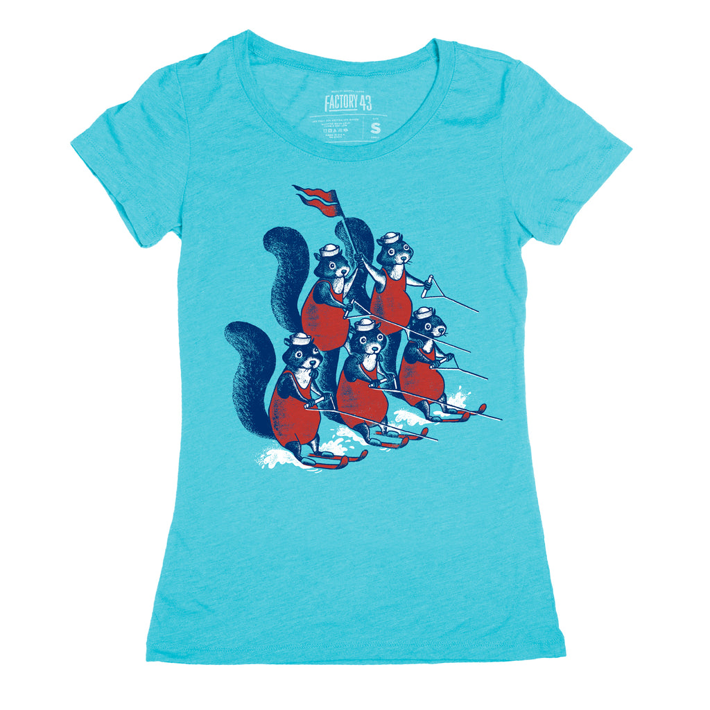 Water Skiing Squirrels women's tee
