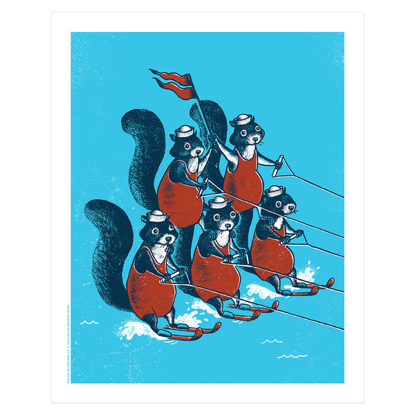 Water Skiing Squirrels Poster