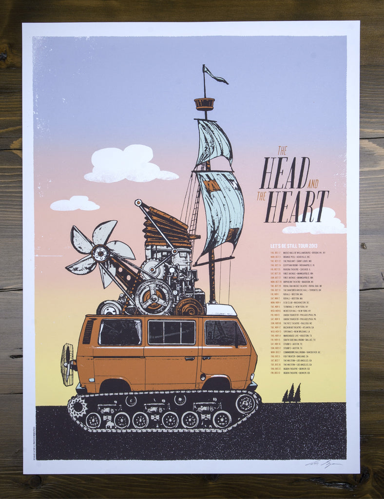 The Head and the Heart - Let's Be Still - Tour Poster
