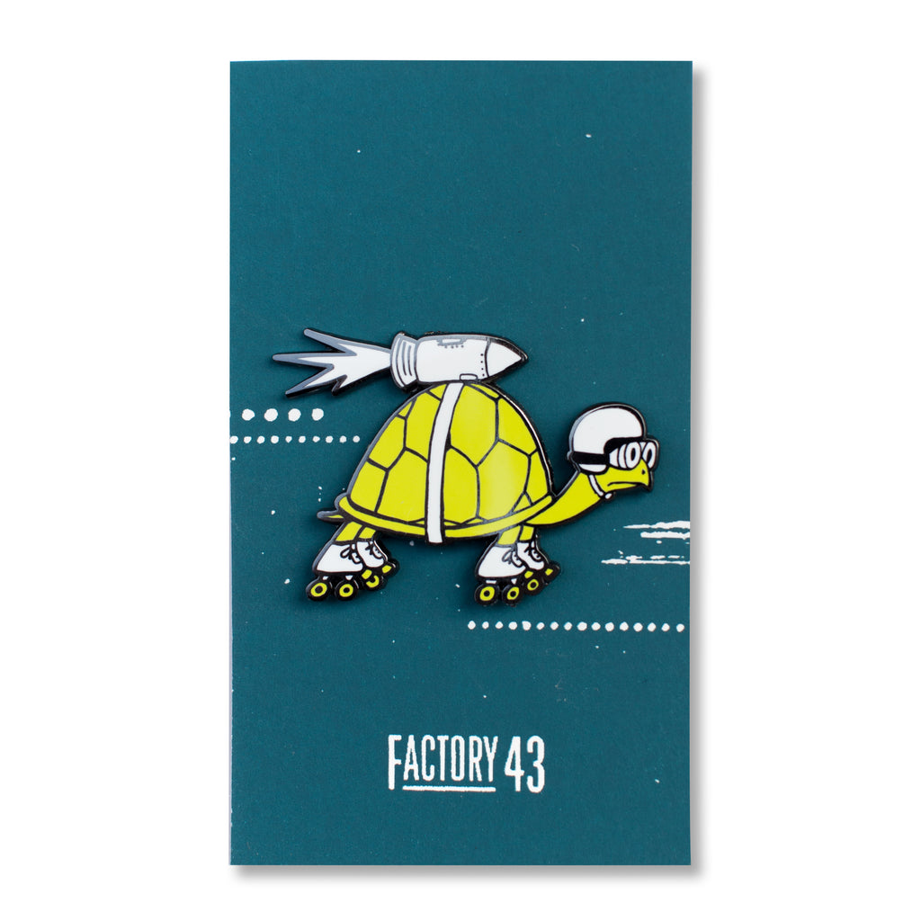Rocket Turtle Pin