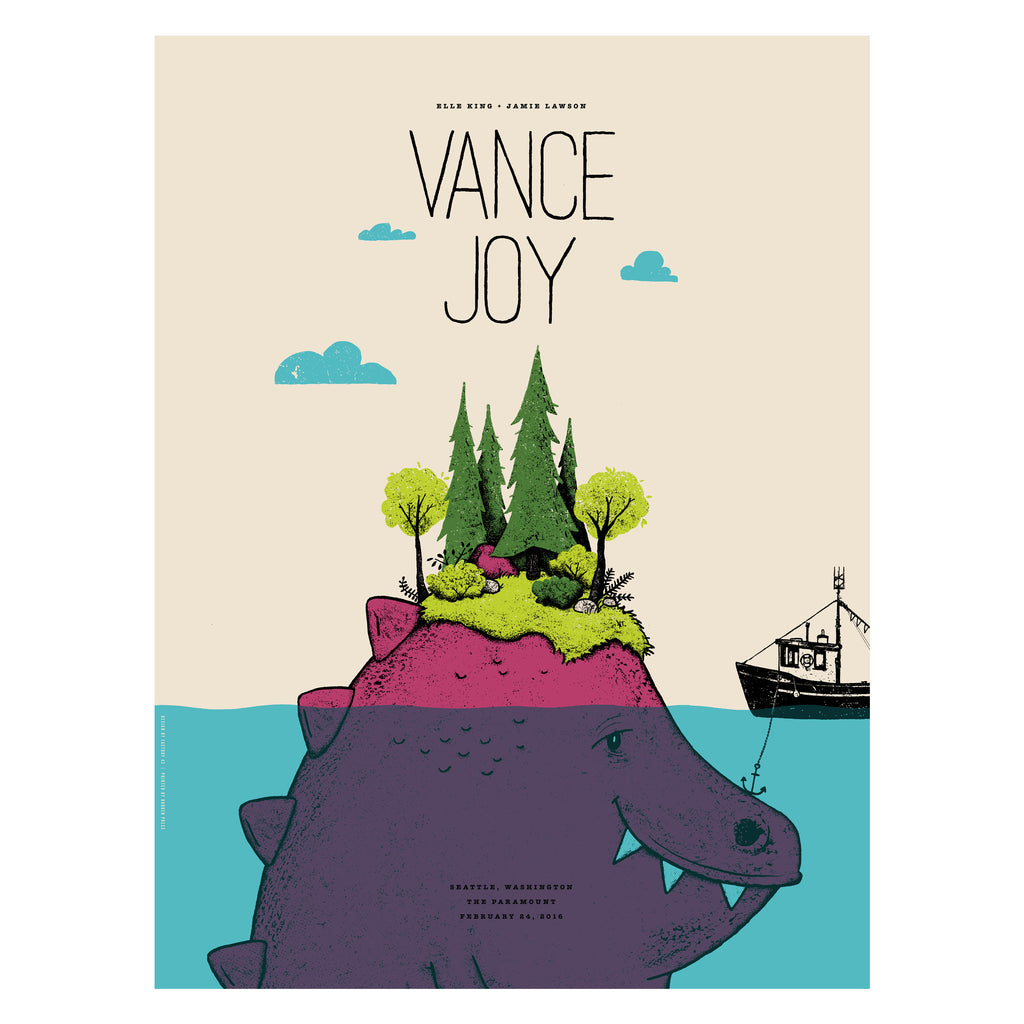 Vance Joy Seattle Poster