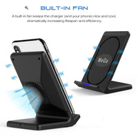 MeGa Fast Wireless Charging Pad Stand with Cooling Fan [REVIEW PRODUCT]