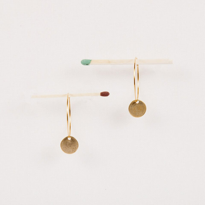 Hoop And Disc Earrings