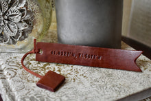 Leather Book Mark-Dark Brown- Coordinates